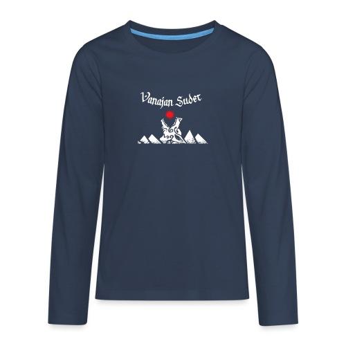 Auringonsyöjä - Teinien premium pitkähihainen t-paita