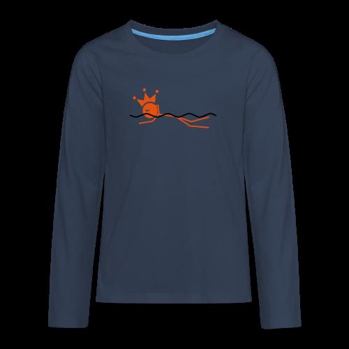 Zwemkoning - Teenager Premium shirt met lange mouwen