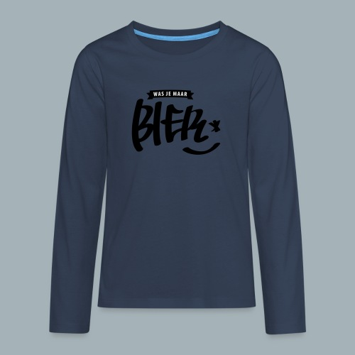 Bier Premium T-shirt - Teenager Premium shirt met lange mouwen