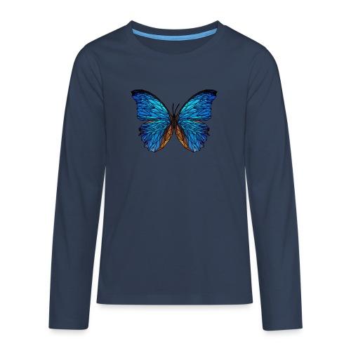 PAPILLON - LOW POLY (Outline) - T-shirt manches longues Premium Ado