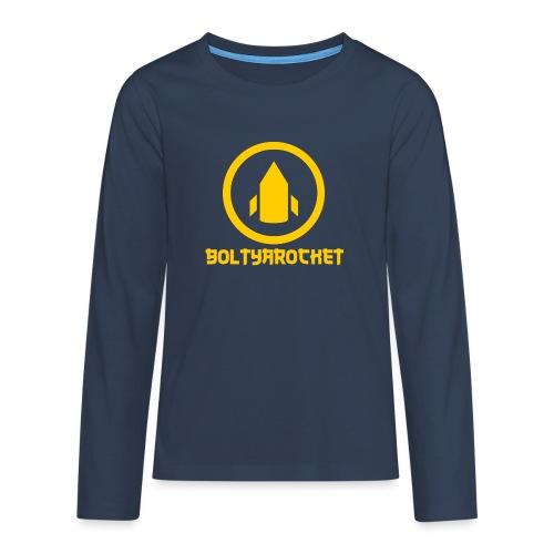 Bolt Ya Rocket - Teenagers' Premium Longsleeve Shirt