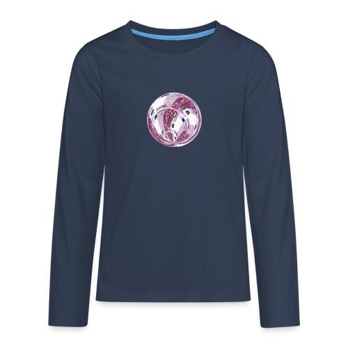 euro 500 schein - Teenager Premium Langarmshirt