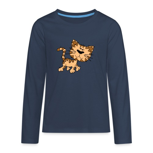 Cat - Teenager Premium Langarmshirt