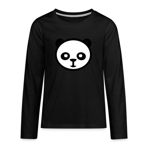 Panda, Giant Panda, Giant Panda, Bamboo Bear - Koszulka Premium z długim rękawem dla nastolatków