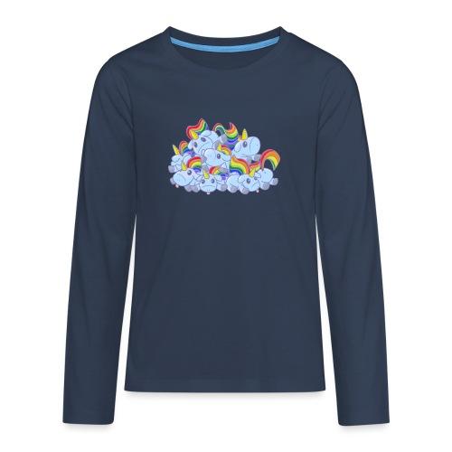 Moar unicorns! - Maglietta Premium a manica lunga per teenager