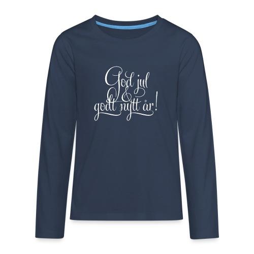 God jul & godt nytt år! - detnorskeplagg.no - Premium langermet T-skjorte for tenåringer