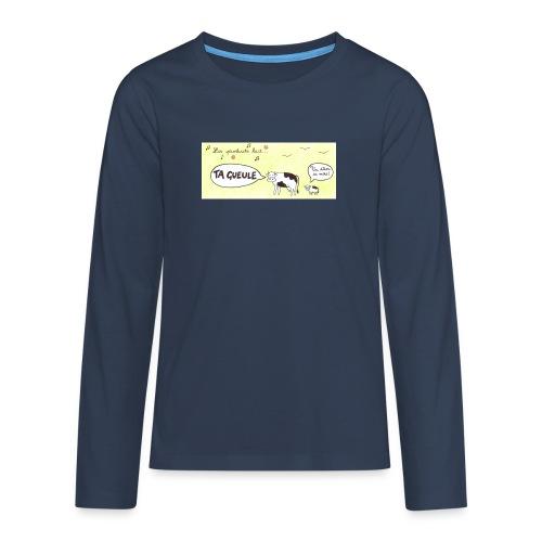 Vache pas laitière - T-shirt manches longues Premium Ado