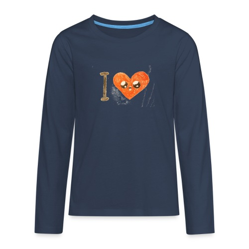Kids for Kids: heart - Teenager Premium Langarmshirt