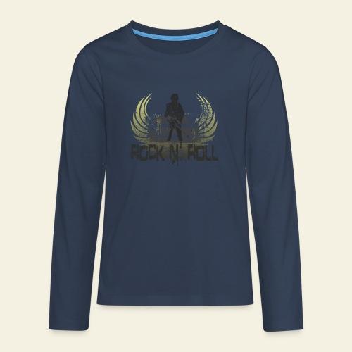 rock n roll camaro - Teenager premium T-shirt med lange ærmer