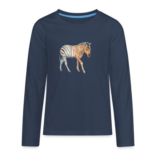 Zebra grants - Teenager premium T-shirt med lange ærmer