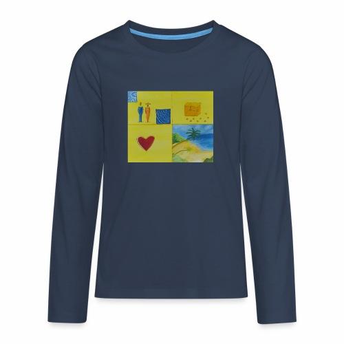 Viererwunsch - Teenager Premium Langarmshirt