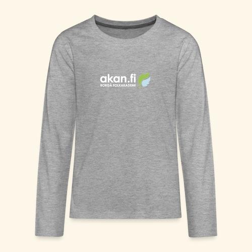 Akan White - Teinien premium pitkähihainen t-paita