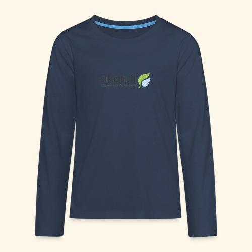 Akan Black - Långärmad premium T-shirt tonåring