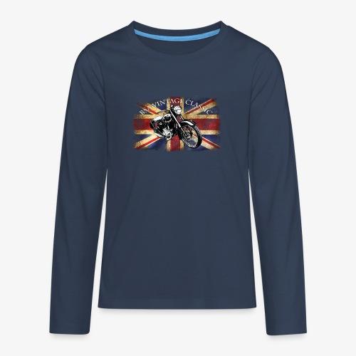 Vintage famous Brittish BSA motorcycle icon - Teenagers' Premium Longsleeve Shirt