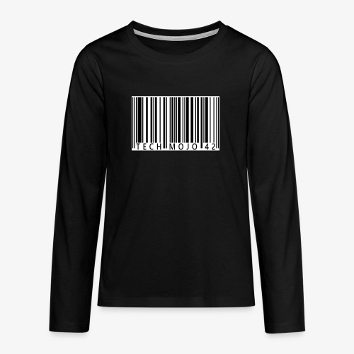 TM graphic Barcode Answer to the universe - Teenagers' Premium Longsleeve Shirt