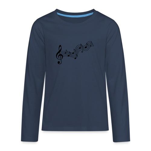 Musiknoten - Teenager Premium Langarmshirt