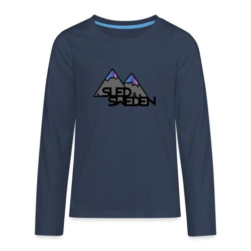SledSweden Official Logo Special Edition - Långärmad premium T-shirt tonåring
