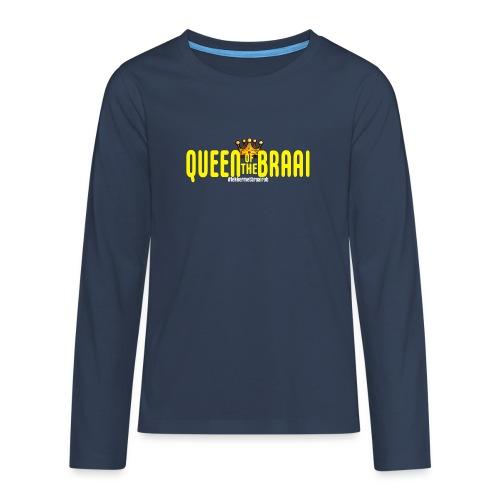 QUEEN OF THE BRAAI - Teenager Premium shirt met lange mouwen