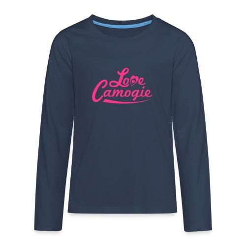 Love Camogie - Teenagers' Premium Longsleeve Shirt