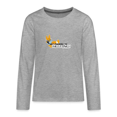 Set Phasers to Helping - Teenagers' Premium Longsleeve Shirt