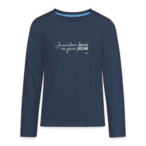Je m'endors en paix car tu es avec moi - T-shirt manches longues Premium Ado