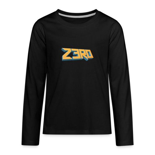 The Z3R0 Shirt - Teenagers' Premium Longsleeve Shirt