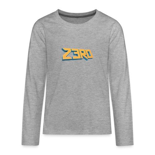 The Z3R0 Shirt - Teenagers' Premium Longsleeve Shirt