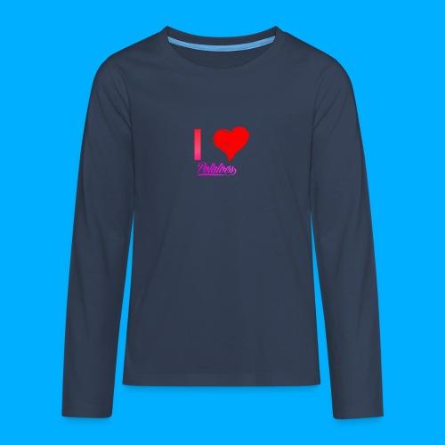 I Heart Potato T-Shirts - Teenagers' Premium Longsleeve Shirt