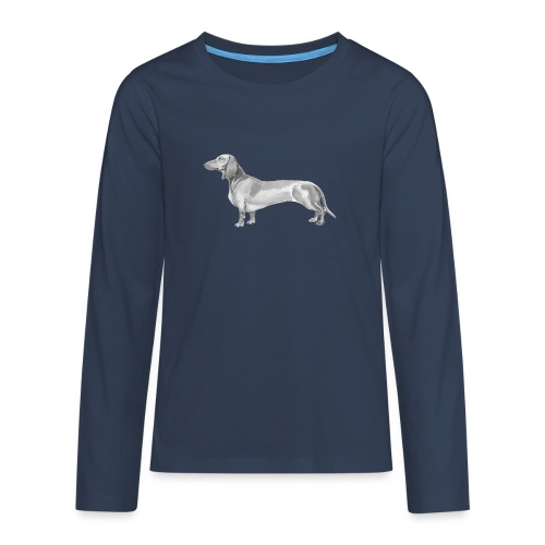 Dachshund smooth haired - Teenager premium T-shirt med lange ærmer