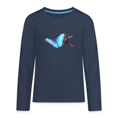 Morpho butterfly - Teenager Premium shirt met lange mouwen