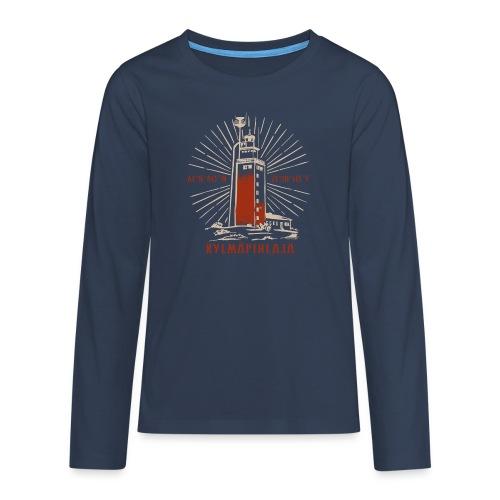 KYLMÄPIHJALAN MAJAKKA tekstiilit ja lahjatuotteet. - Teinien premium pitkähihainen t-paita