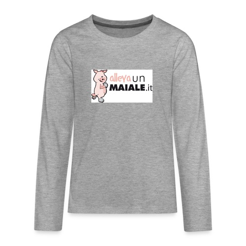 Allevaunmiale.it - Maglietta Premium a manica lunga per teenager