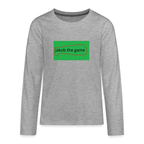 jakob the game - Teenager premium T-shirt med lange ærmer