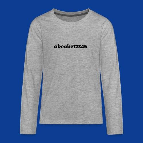 My new shirt - Teenagers' Premium Longsleeve Shirt
