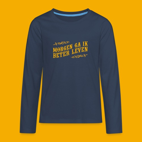 tshirt yllw 01 - Teenager Premium shirt met lange mouwen