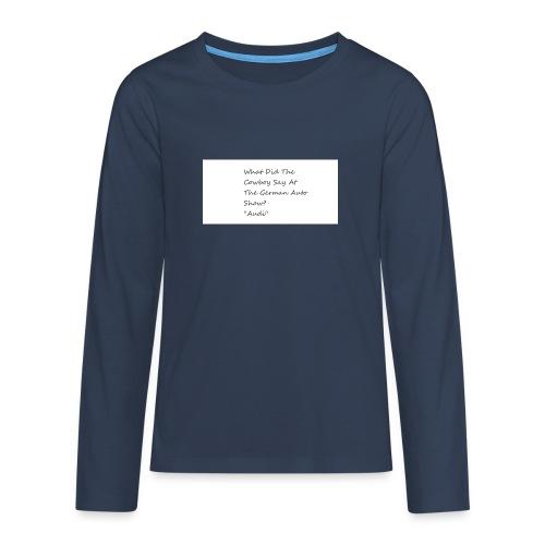 Car Joke - Teenagers' Premium Longsleeve Shirt