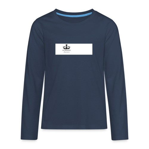 william - Teenagers' Premium Longsleeve Shirt