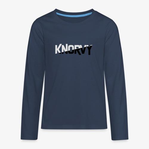 KNORVY - Teenager Premium shirt met lange mouwen