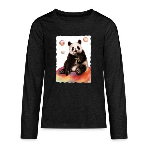 Panda World - Maglietta Premium a manica lunga per teenager
