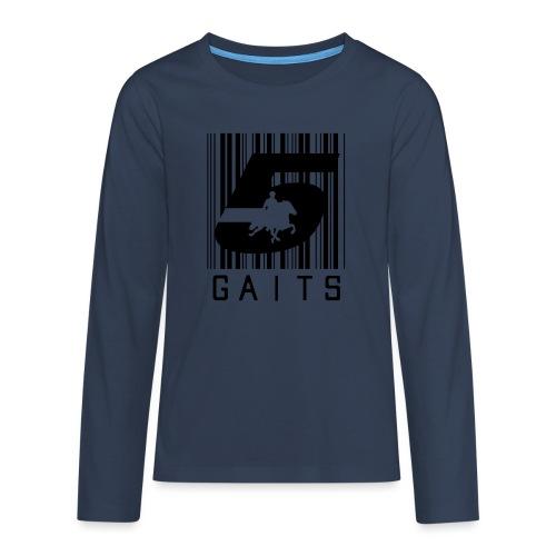 5gaitsBarcode 1 - Teenagers' Premium Longsleeve Shirt