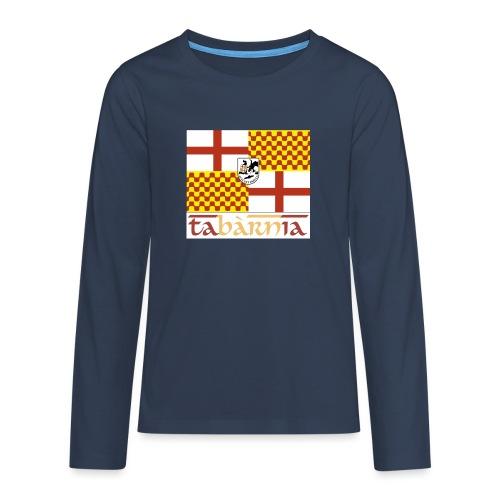 Bandera Tabarnia letra simran - Camiseta de manga larga premium adolescente