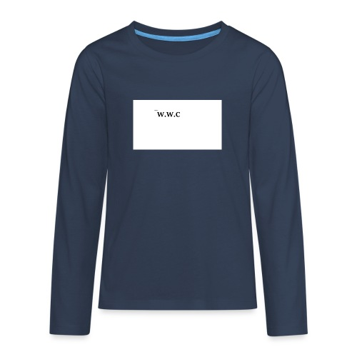 White Wolf Clothing - Teenager premium T-shirt med lange ærmer