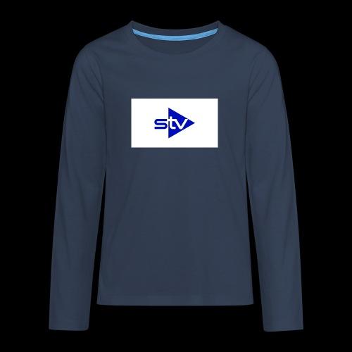Skirä television - Långärmad premium T-shirt tonåring