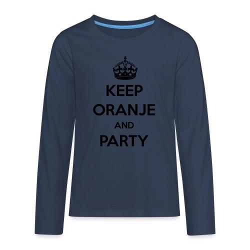 KEEP ORANJE AND PARTY - Teenager Premium shirt met lange mouwen