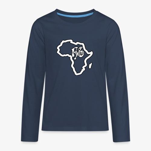 afrika pictogram - Teenager Premium shirt met lange mouwen