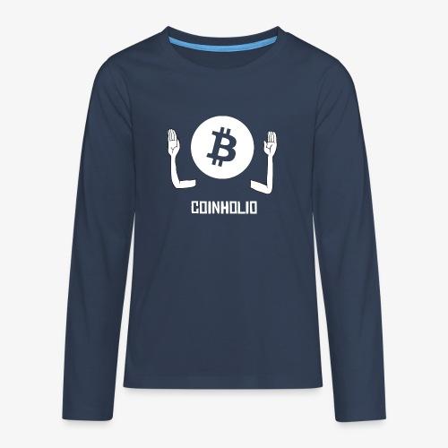 HODL coin holio-w - Teenagers' Premium Longsleeve Shirt