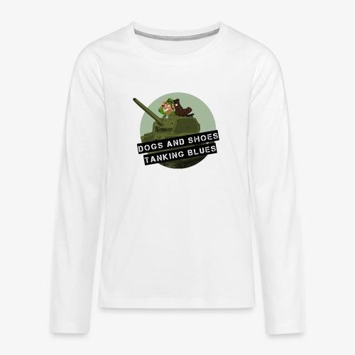 logo dogs nieuw - Teenager Premium shirt met lange mouwen