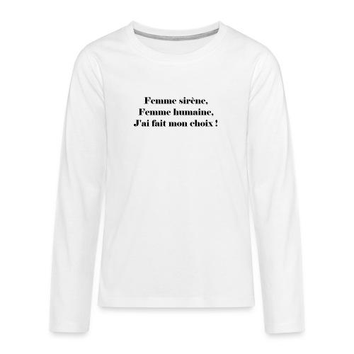 Ariel - T-shirt manches longues Premium Ado