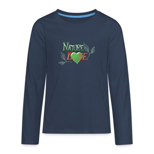 Nature Love - Teenager Premium Langarmshirt
