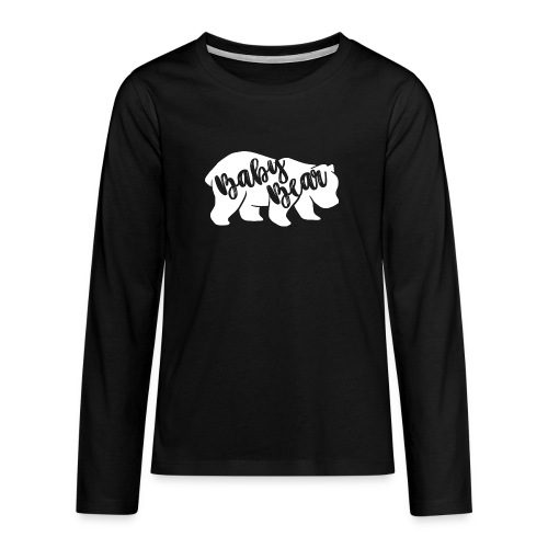 Baby Bear - für Eltern-Baby-Partnerlook - Teenager Premium Langarmshirt